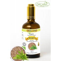 Organic Hemp Seed Oil Cold Pressed Unrefined, Certified Premium Quality 100ml